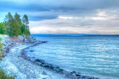Cold morning on Yellowstone lake