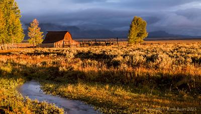 Sunrise at the Moulton Barn
