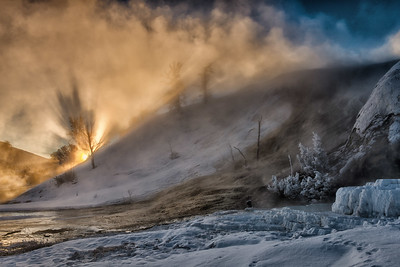 Mammoth Hot Springs Sunrise