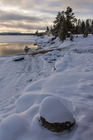 Shoreline of Lake Yellowstone at West Thumb