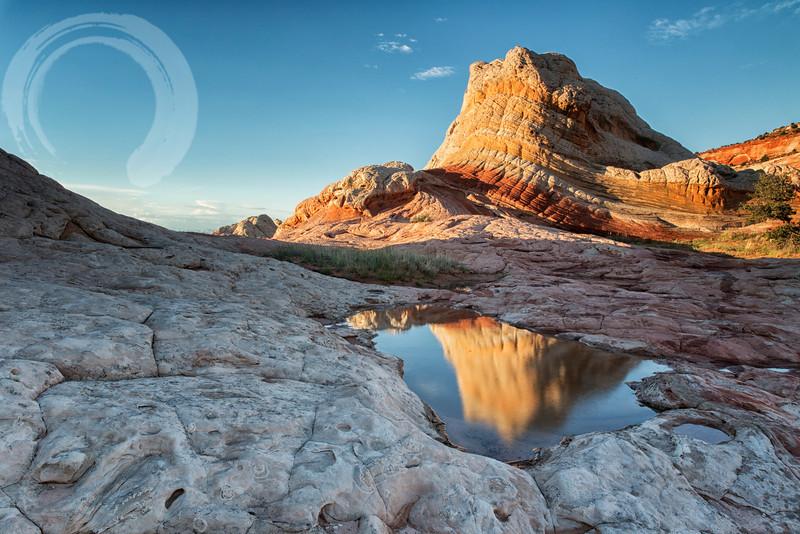 Sunset reflection at White Pocket 1