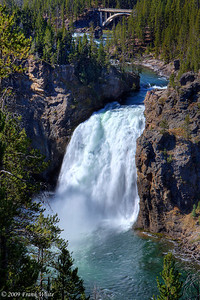 Upper Falls of the Yellowstone River from the brink of the upper falls observation platform.