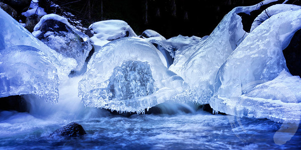 After the flood of 2013, the water level in the creeks stayed high and made for some interesting ice formations.