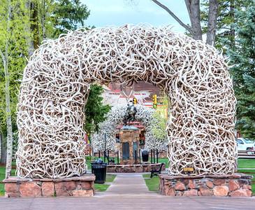 Elk antler arch Jackson, Wyoming.