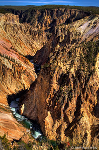 The Grand Canyon of the Yellowstone river looking east from Grand View