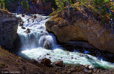 Firehole Falls on the Firehole River in western Yellowstone.