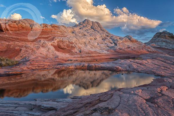 Sunset Reflection at White Pocket 3