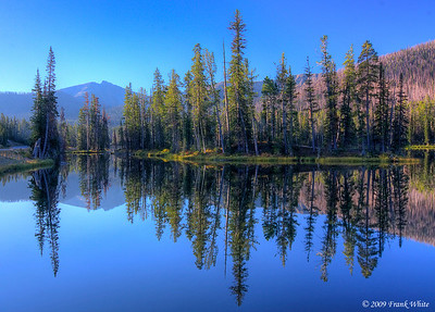 Sylvan Lake reflection, early morning.