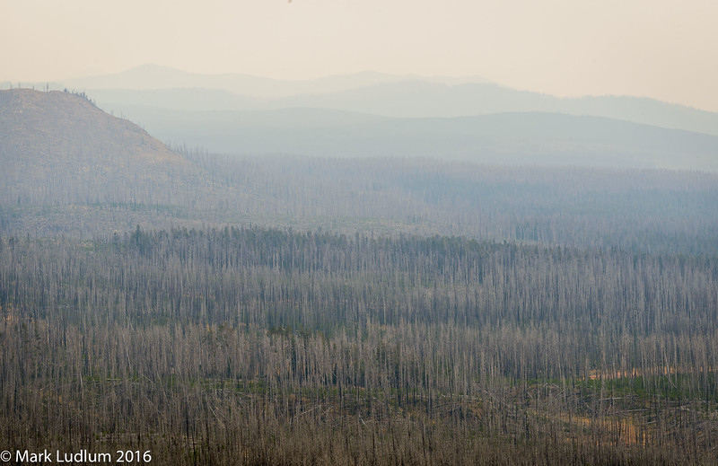 Lake Yellowstone Wildfire Haze 09-2016
