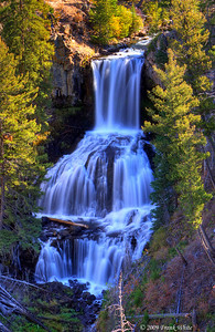 Undine falls. Since it was in deep shadow I merged 3 shots into an HDR image.