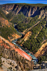 Grand Canyon of the Yellowstone looking east from Inspiration Point.