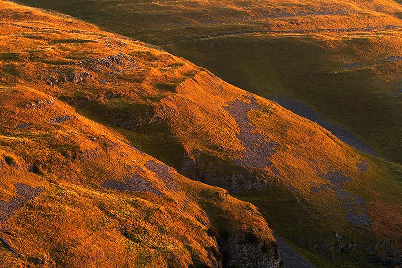 Yorkshire Dales limestone hills.