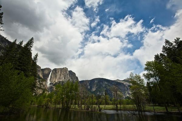 Merced River & Upper Yosemite Falls - Spring '1-