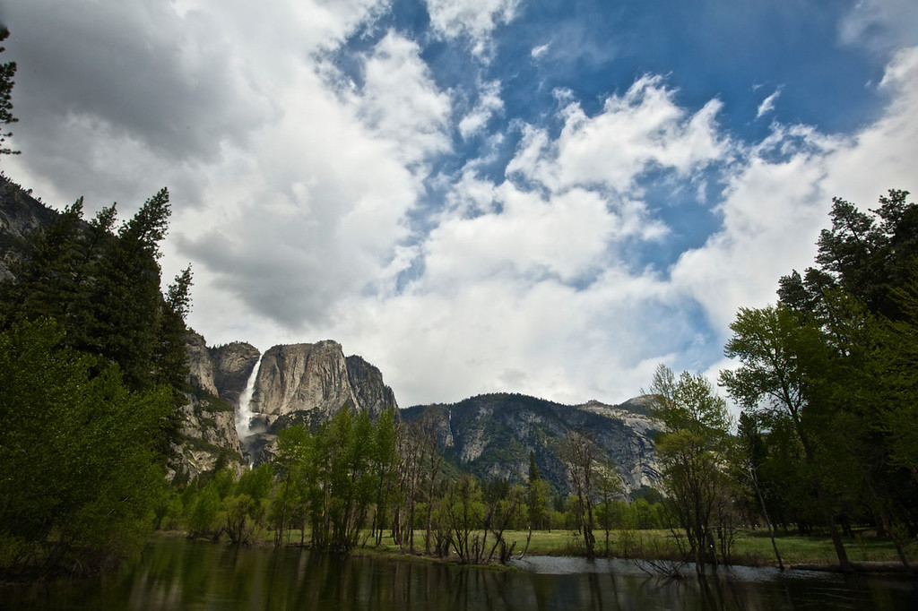 Merced River & Upper Yosemite Falls - Spring '1-
