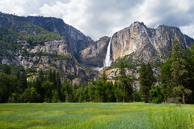 Meadow and Upper Yosemite Falls