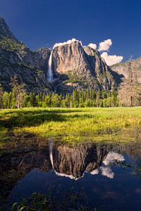 Upper Yosemite Falls in the late afternoon.