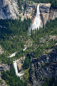 Nevada Falls (top) and Vernal Falls