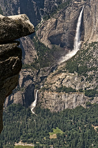 Upper and Lower Yosemite Falls viewed from Glacier Point.