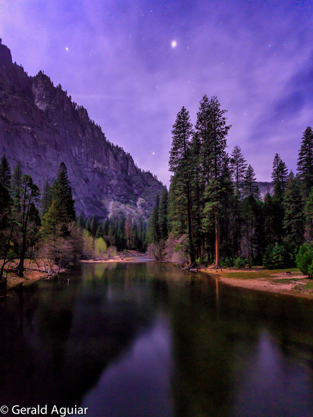 Merced River at Night