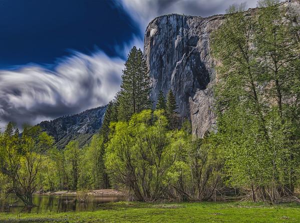 Clouds Swirling Above El Capitan
