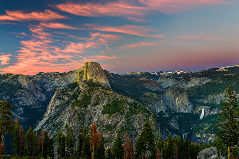 """Half Dome at Sunset from Glacier Point"""