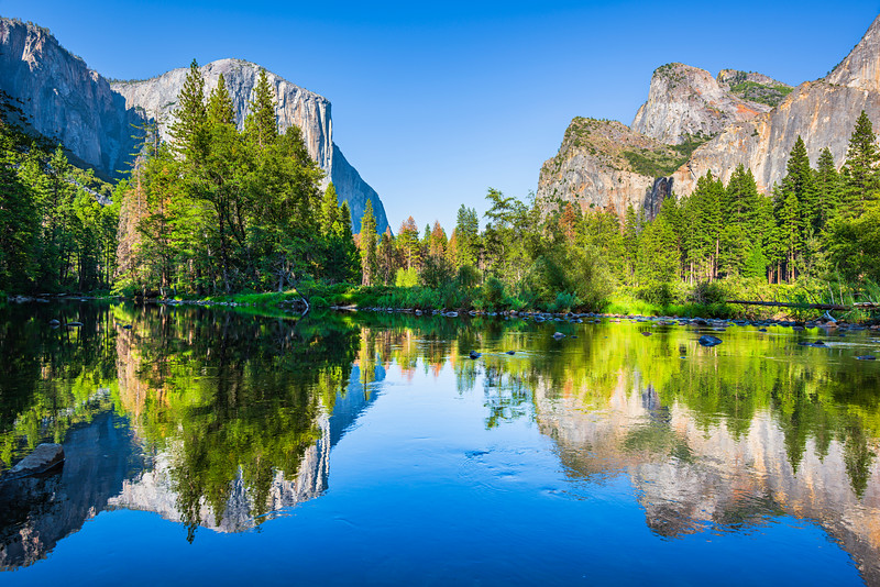 """Valley View in Summer"" Yosemite National Park"