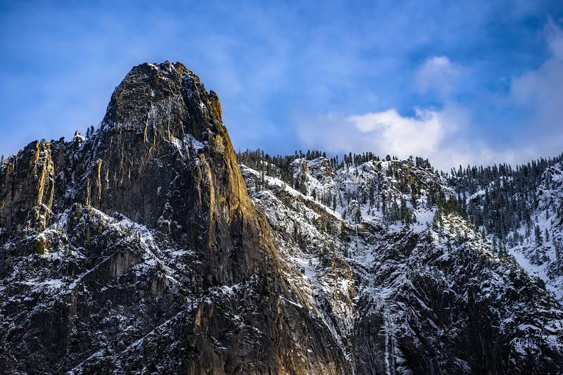 """""""Sentinel Rock in Winter in Yosemite National Park"""""""