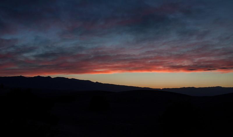 Sunrise at Mesquite Flat Sand Dunes