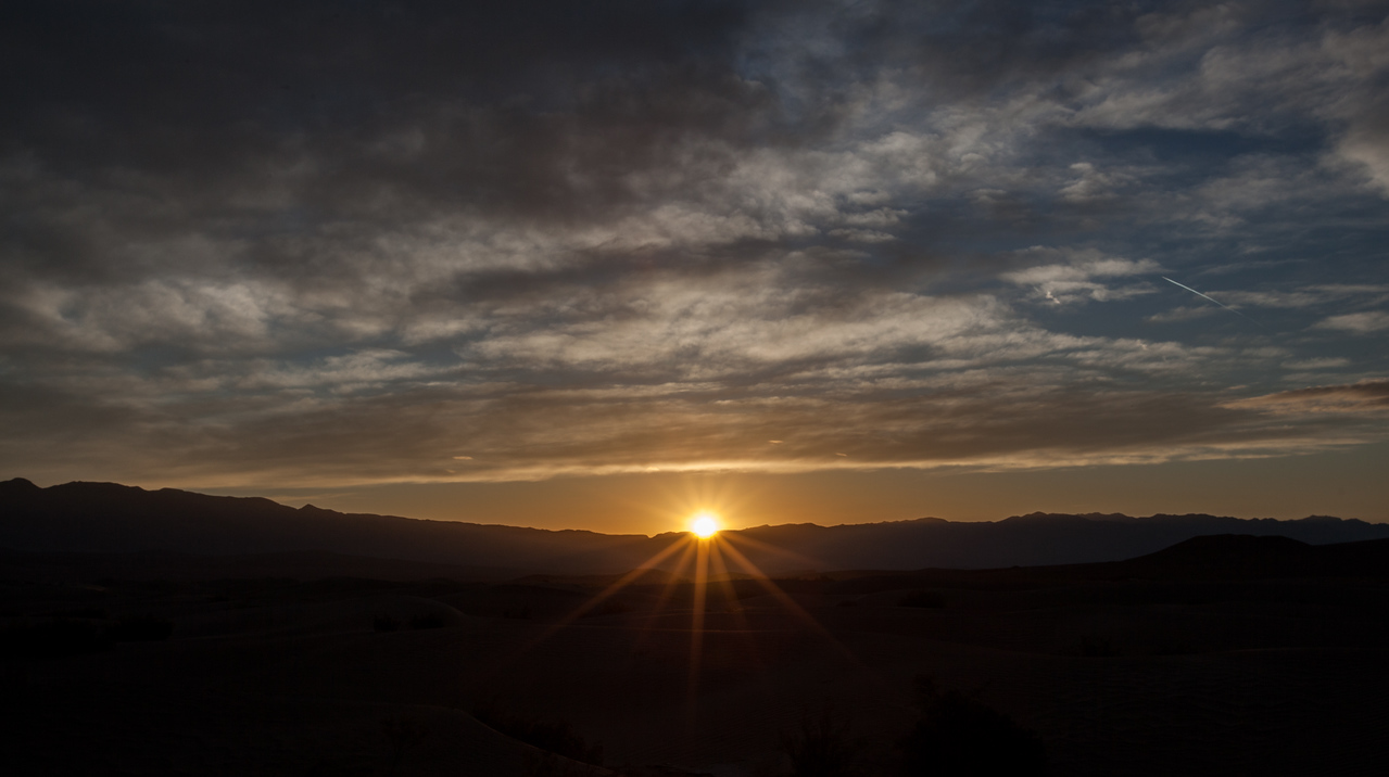 Sunrise at Mesquite Flat Sand Dunes