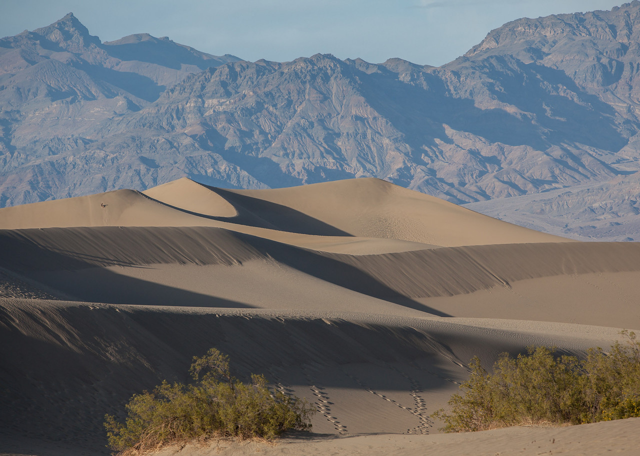 Mesquite Flat Sand Dunes at sunset