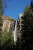 Bridalveil Falls and moon