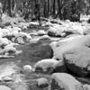 Yosemite River below the viewing bridge