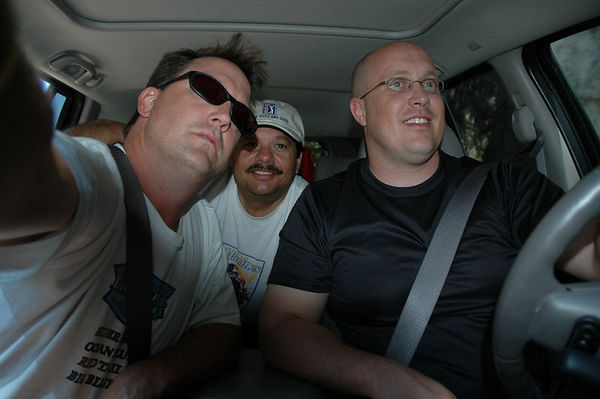 Jeff, Peter & Bobbie at the entrance of Yosemite