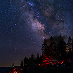 """Star Party in Yosemite"" Glacier Point, Yosemite National Park."
