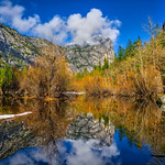 """Mirror Lake in Yosemite in Spring""  Yosemite National Park and Mt. Watkins"