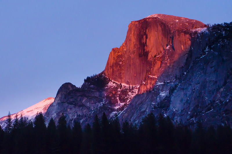 """Half Dome Alpen Glow Sunset"" Yosemite National Park"