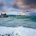 """Storms and Sunset over Mono Lake"""