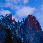 Yosemite Peaks at Sunset