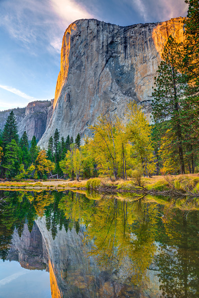 """El Capitan at Sunset with Fall Colors"""