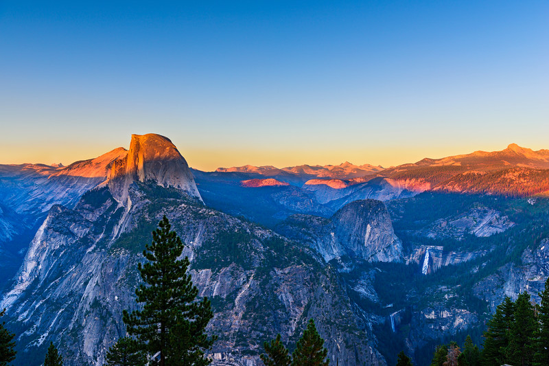 """Sunset over Half Dome"" Yosemite National Park"