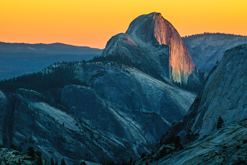 """Half Dome Sunset from Olmsted Point"" Yosemite National Park, California"