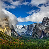 """Tunnel View in Yosemite National Park in Winter"""