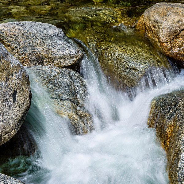 """Flowing below Yosemite Falls in Spring"" Rocks and flowing water are two of my favorite things! I really love the textures and colors in the rocks together with the silky water flowing around the rocks. Can you hear the water flowing! Who is ready to head to Yosemite this spring?!"