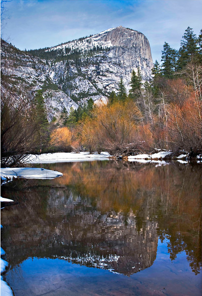 Mirror Lake Yosemite Winter