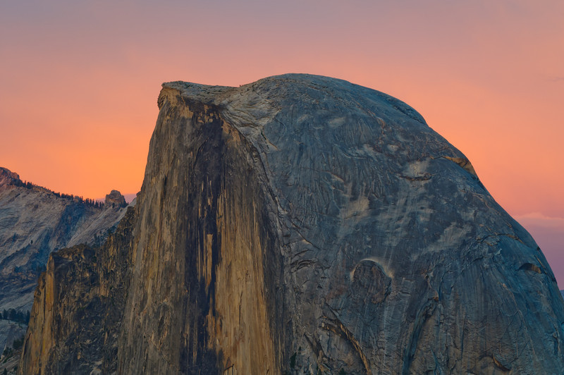 """Half Dome at Sunset in Yosemite National Park"""