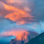 """Reflections of Light at Sunset"" Yosemite National Park Sunset on Half Dome"