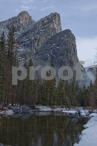 Snowy Morning in Yosemite Valley