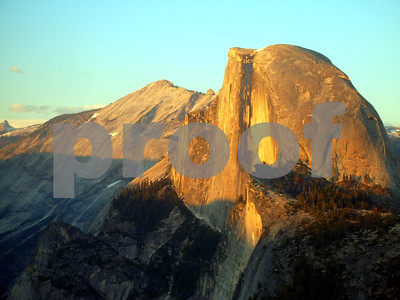 Yosemite-Half Dome with Evening Amber Glow