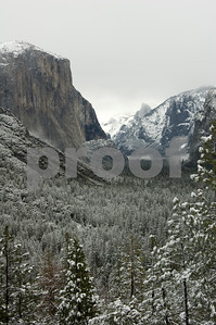 Valley Fog on Snow Laden Yosemite Valley
