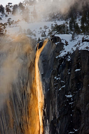 Horsetail Fall in Light